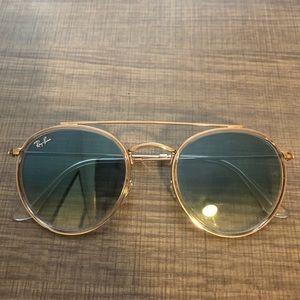 Authentic Ray Ban round double bridge sunglasses